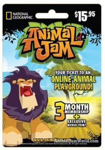 animal-jam-lion-membership card