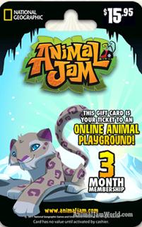 Animal Jam Gift Card Codes