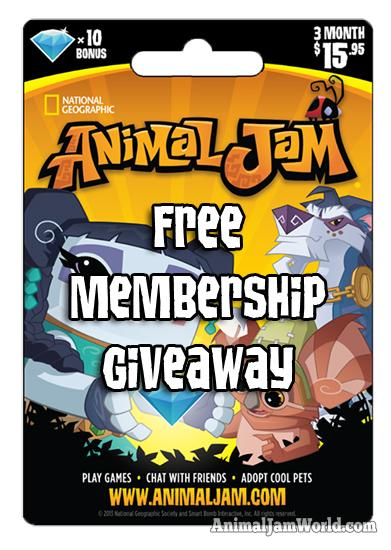 February Animal Jam Membership Giveaway - Animal Jam World