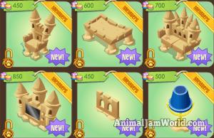 Sand Castle Den Items 1