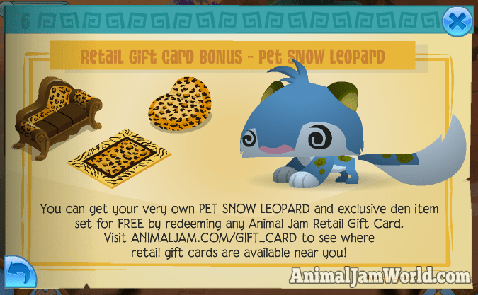how to get snow leopard slippers on animal jam