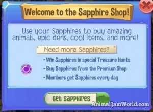 How To Get Free Sapphires In Play Wild Animal Jam Play - Www