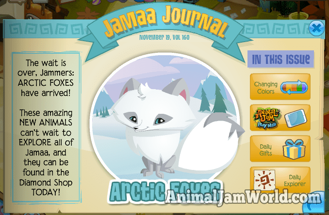 Arctic Foxes Have Arrived Other News Animal Jam World