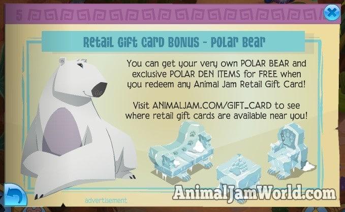 animal-jam-polar-bear-gift-card