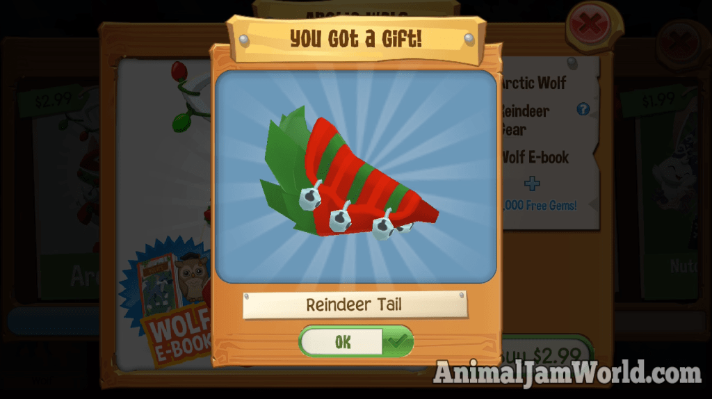 play-wild-arctic-wolf-reindeer-tail