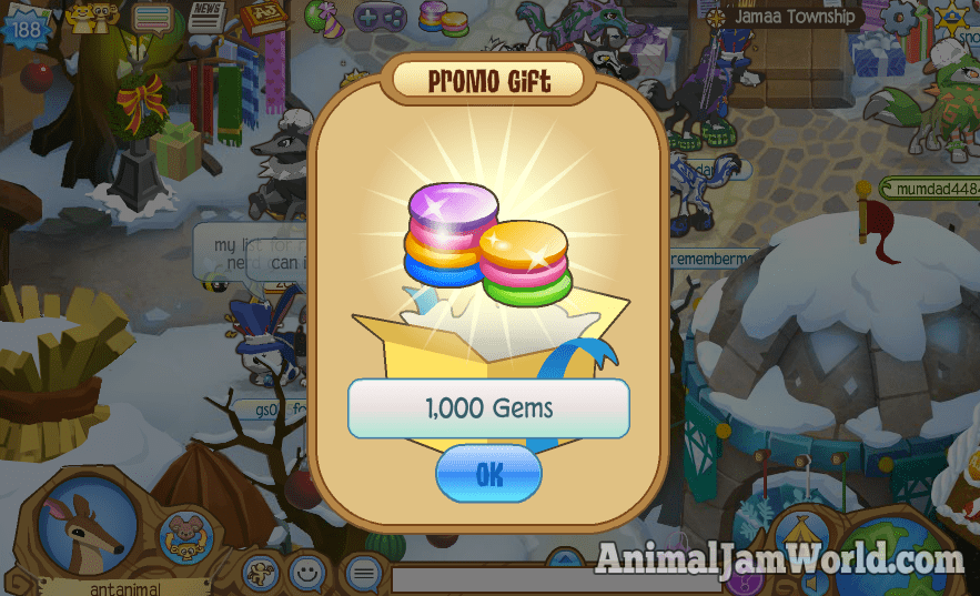 The second way is by entering the code on Animal Jam's