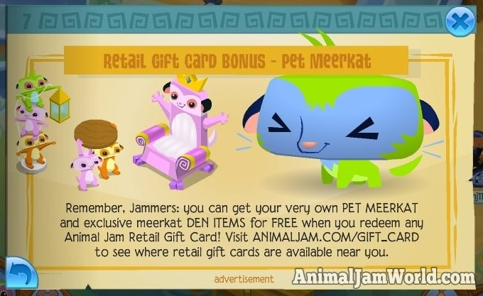 Gift Cards With Animal Jam Gift Cards, kids can get access to cool