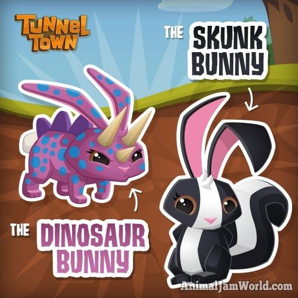 tunnel-town-dinosaur-skunk-bunny