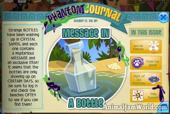 Image of: Wiki Animaljammessageinabottle Animal Jam World Mysterious Messages In Bottles Animal Jam World