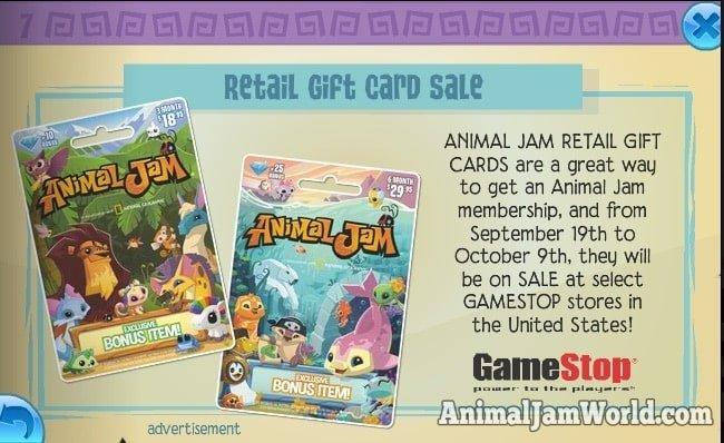 animal-jam-retail-gift-card-sale