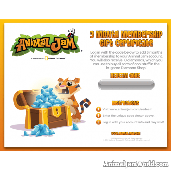 Jamaaliday 2016 Free Membership Giveaway - Animal Jam World