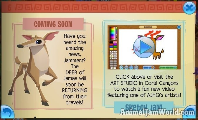 Image of: Codes Animal Jam World Animaljamdeerreturn