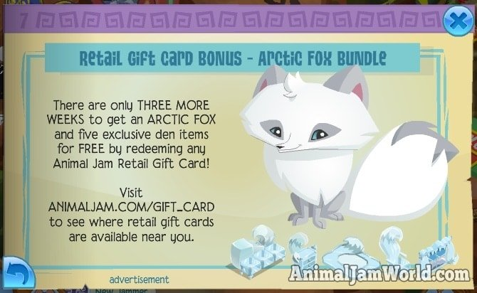 animal-jam-arctic-fox-code
