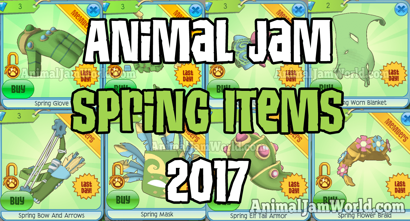 New Spring Items In Animal Jam 2017