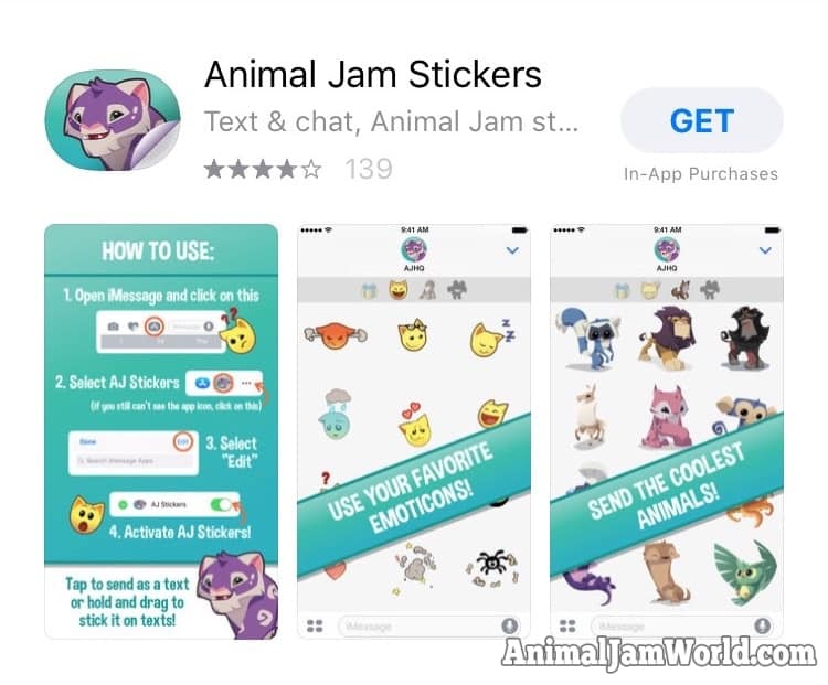 Animal Jam Stickers App - How to Download for iOS