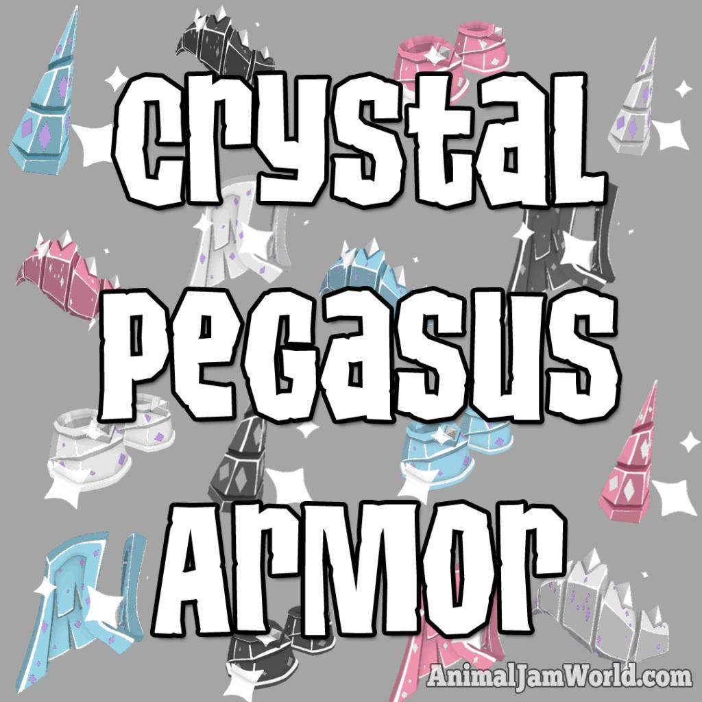 Crystal Pegasus Armor Set In Animal Jam