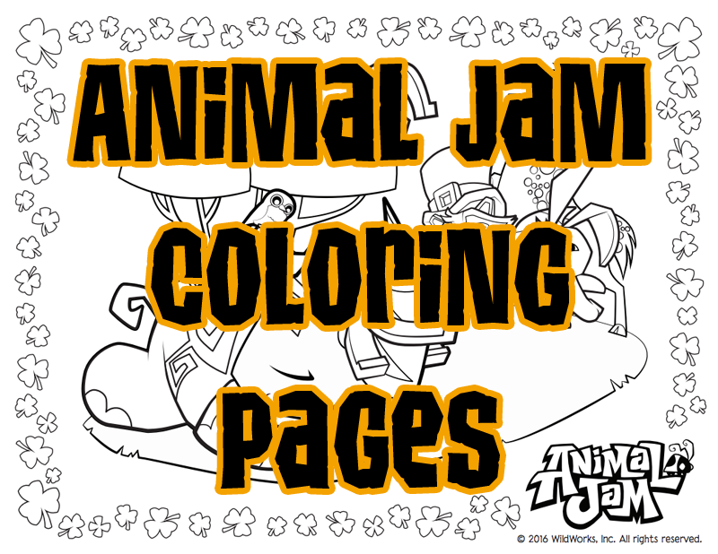 There Are Lots Of Free Animal Jam Coloring Pages Online All You Have To Do Is Print Them Out And Youre Ready Color Just Be Sure Ask Your Parents