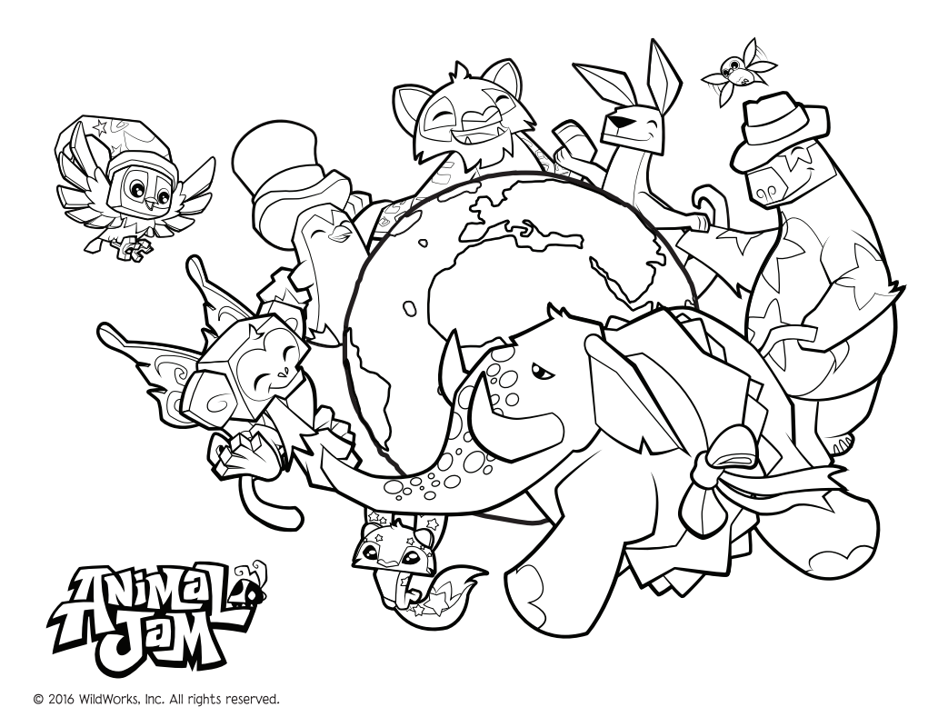 Animal Jam Official Coloring Page