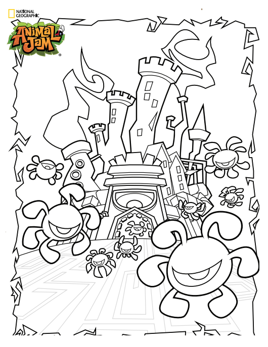 32 Coloring Pages Animal Jam - Free Printable Coloring Pages