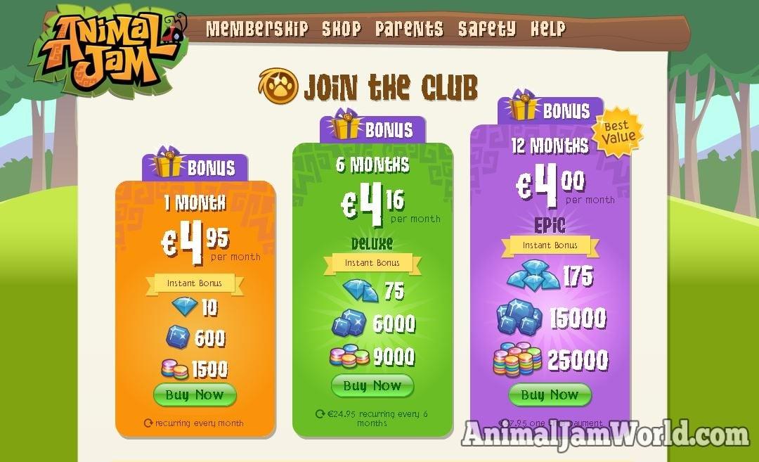 how to get membership on animal jam play wild