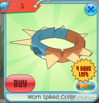 Image of: Rare Spike Blue And Orange With Cream Spikes Animal Jam World Worn Spiked Collar In Animal Jam Trading Codes More