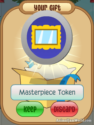 Image of: Art As You Can See Here The Mp Token Looks Like Giant Silver Coin The Coin Has Blue Center In It And Within That Center There Is Golden Picture Frame Music Videos Materpiece Tokens In Animal Jam How To Get Mp With Codes Trading