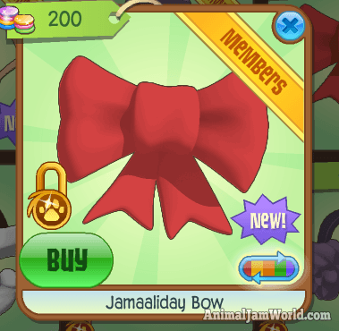Image of: Box Jamaaliday Bow Rare Animal Jam Item Animal Jam World Jamaaliday Bow Rare Animal Jam Item
