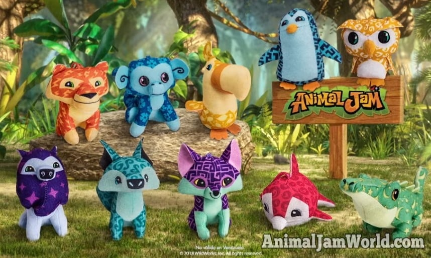 Animal Jam Happy Meal Toys - Exclusive McDonalds Plushies