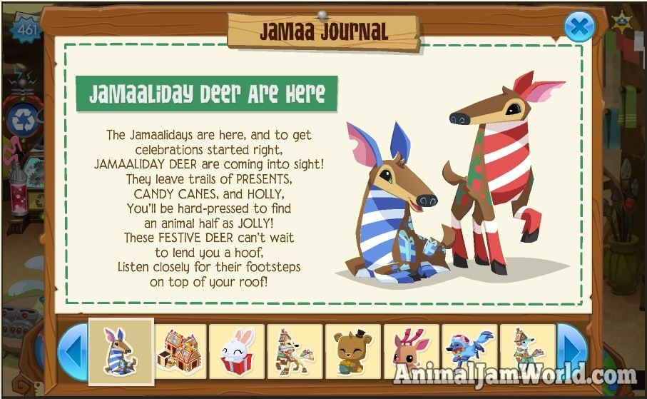 Jamaaliday Deer in Animal Jam - How to Get Them!