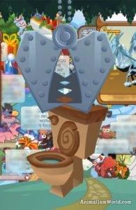 Animal Jam Toilet - AJ Den Item Trading & Worth